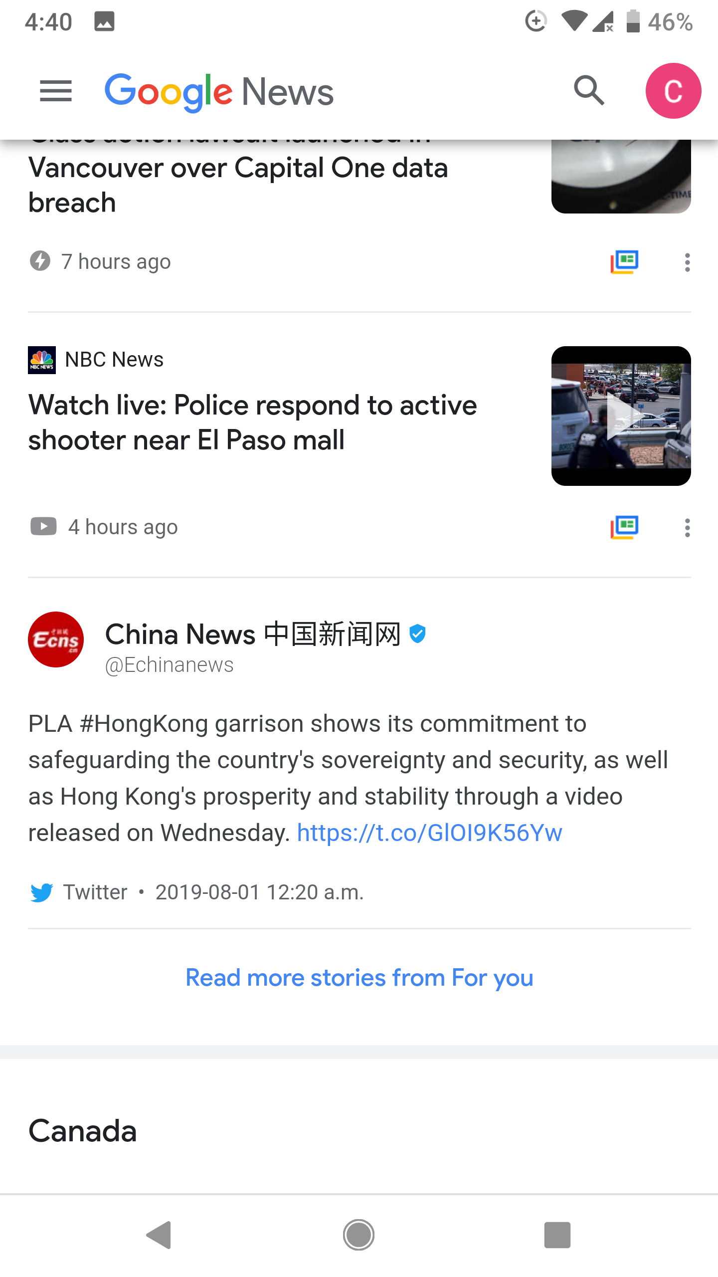 I just got China propiganda on Google News and I can not block it