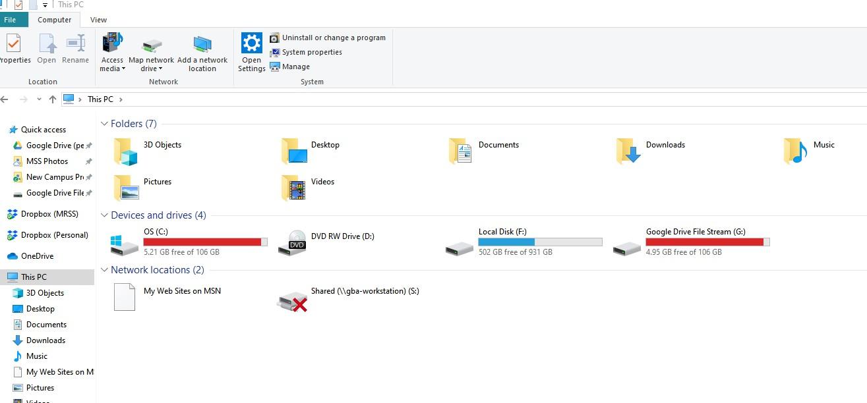 Drive file stream update