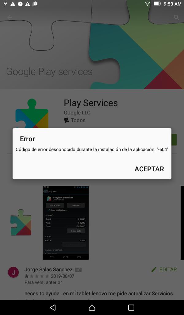 No actualiza Google play en mi tablet Lenovo - Google Play Community