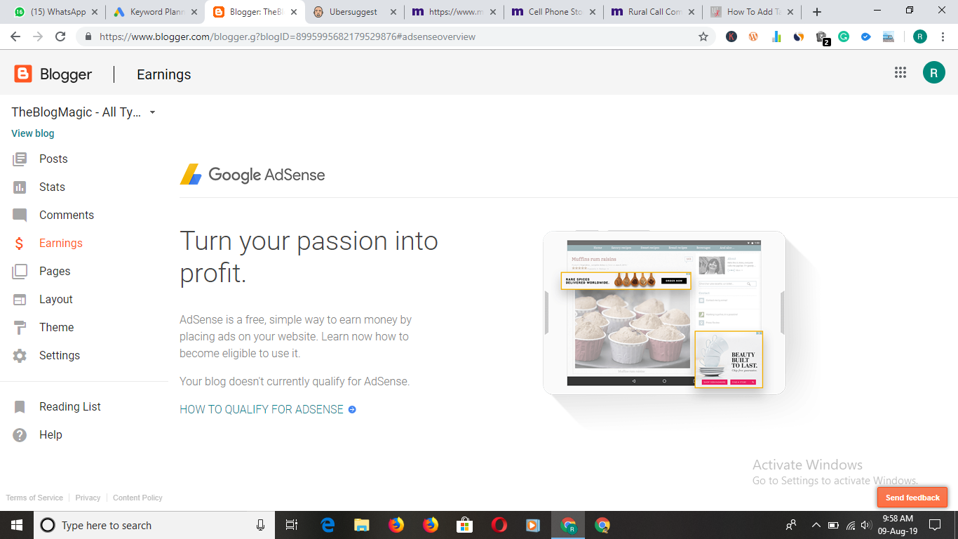 Adsense signup button does not appear on my site - AdSense Help