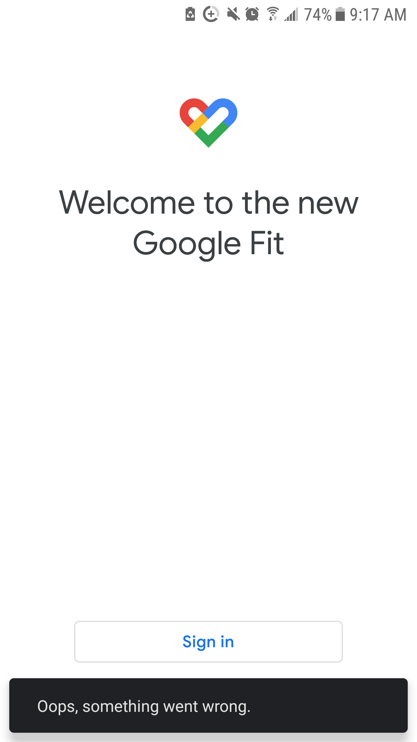 Unable to Sign Into Google Fit/ Not Recognizing Account