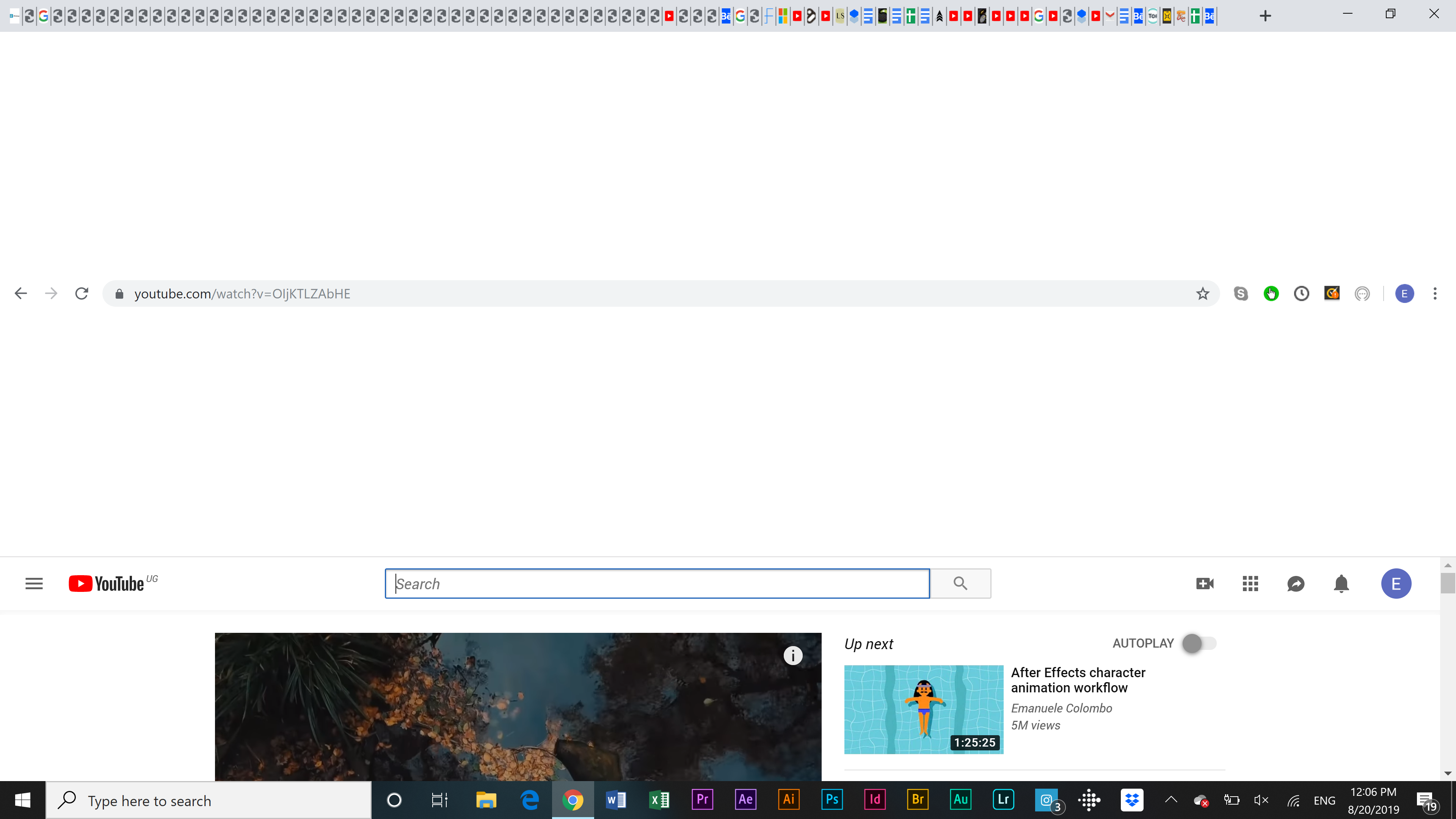 Why is there white space above and below my Chrome search
