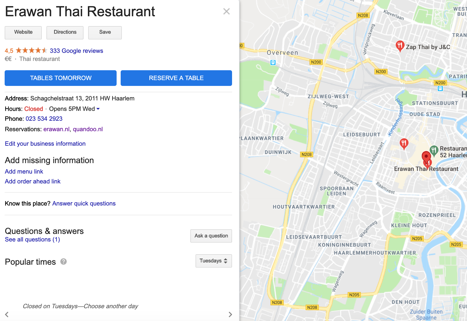 """How to add a """"Reserve a Table"""" button to my profile without a contract with  a reservation provider? - Google My Business Community"""