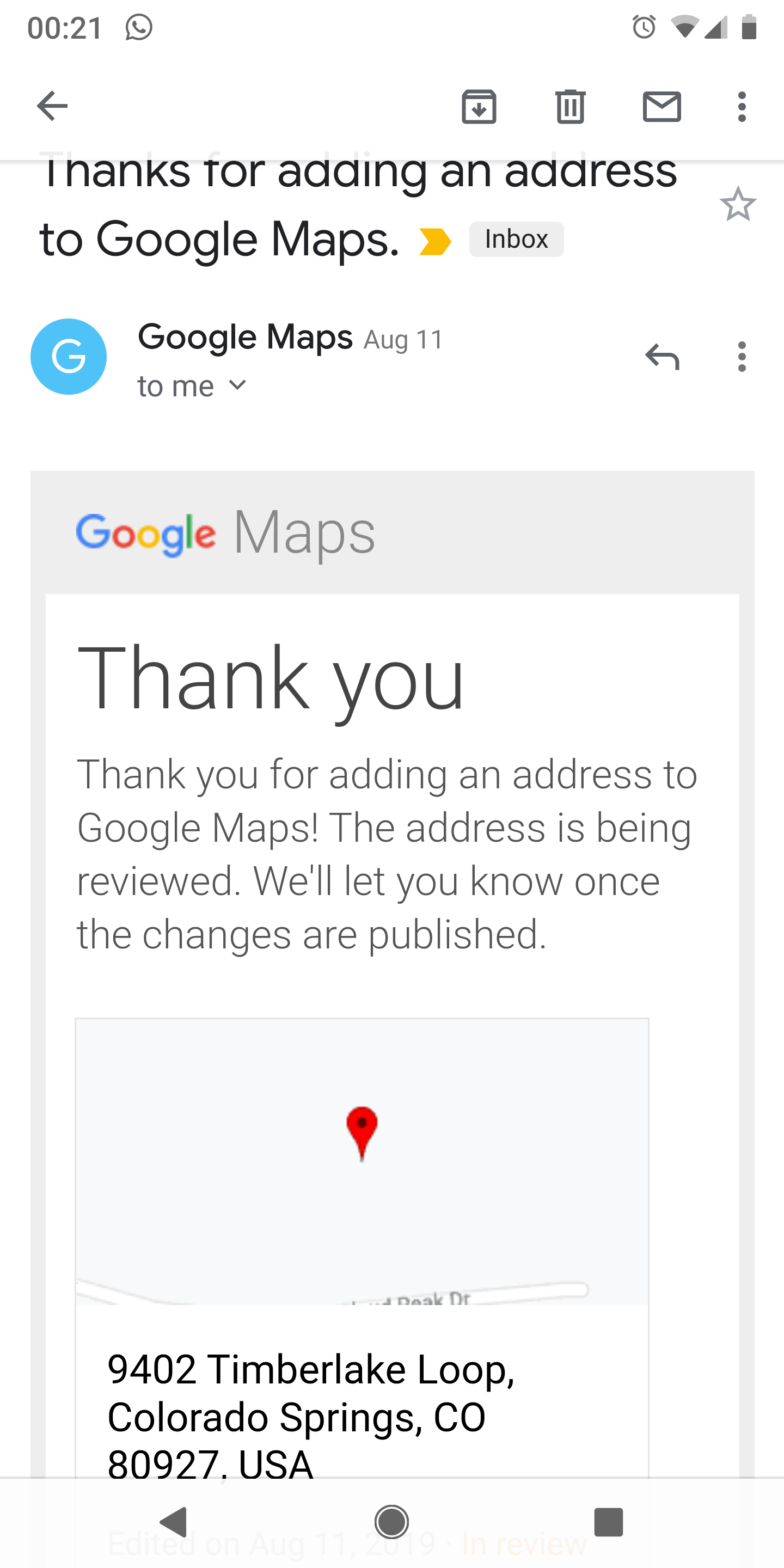 Attempted twice in the last 3 months to add my address to ... on google web address, google aerial view of property, google home address, instagram address, gmail address,