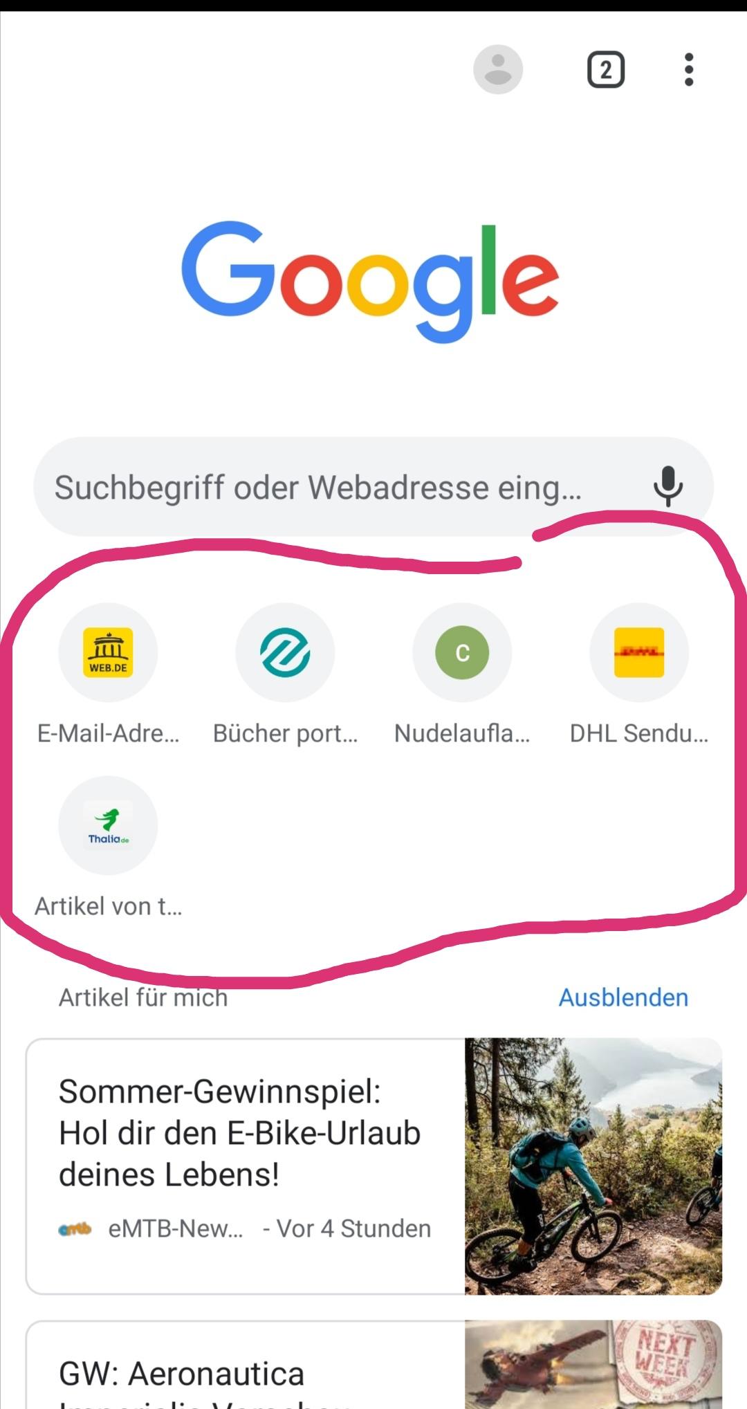 Wie füge ich Lesezeichen zu meiner Chrome Startseite hinzu ...