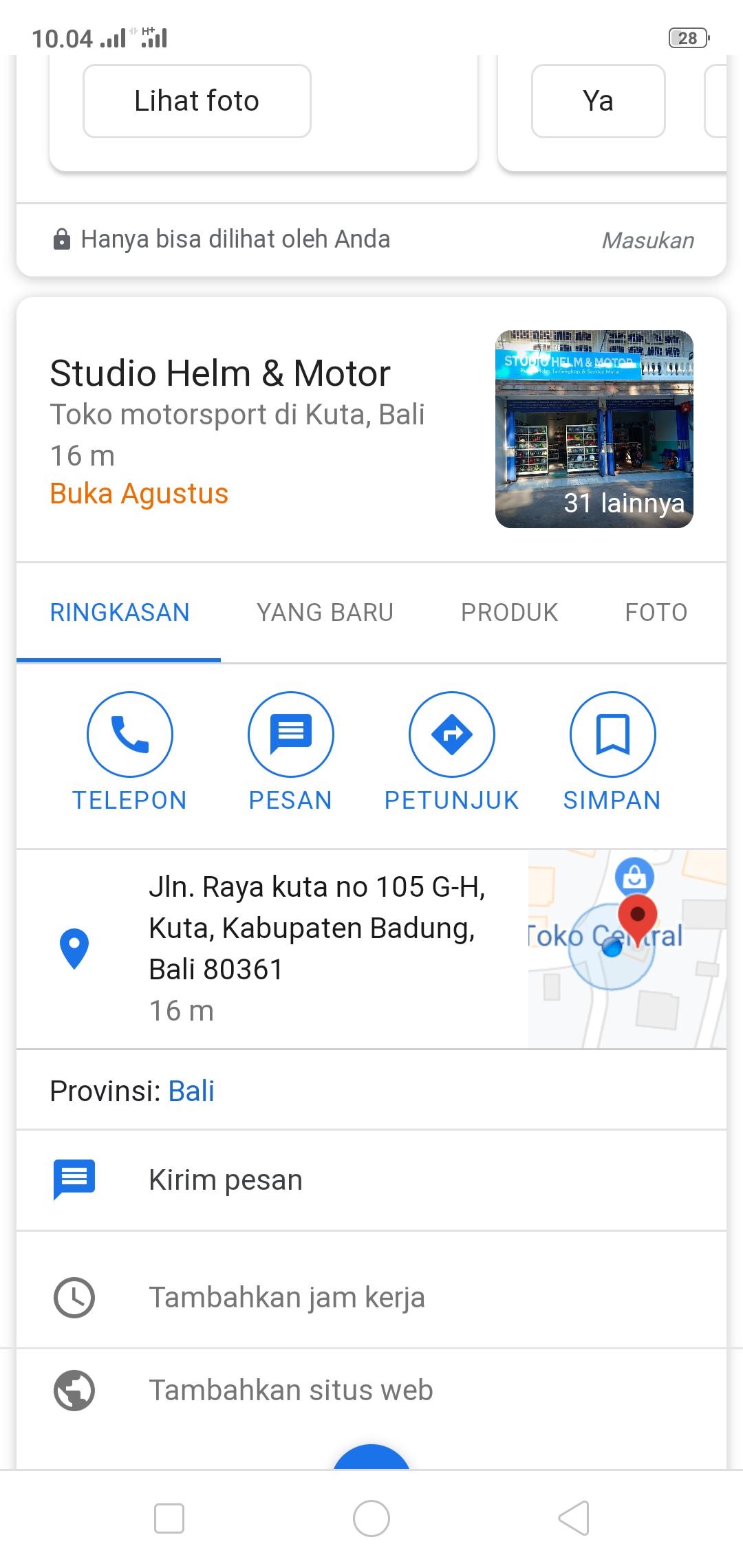 google map tidak muncul