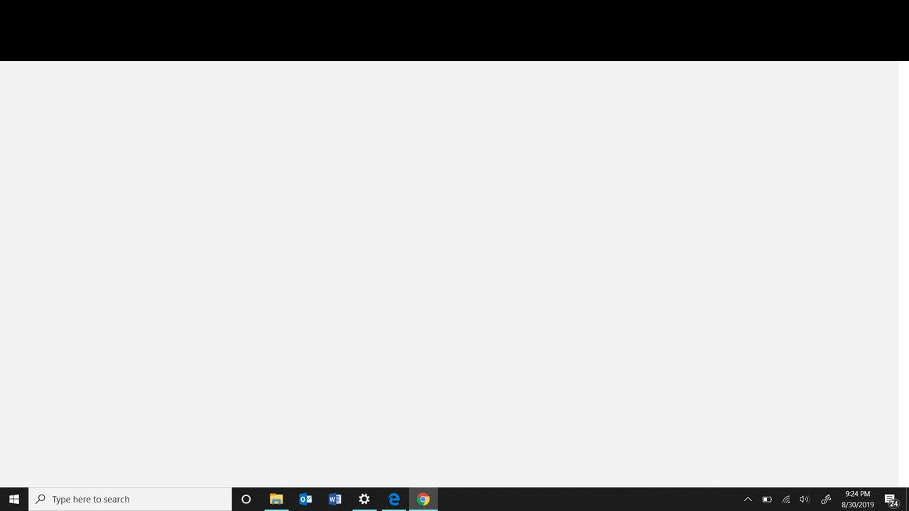 Google Chrome Shows A Blank White Page With A Black Bar Across The