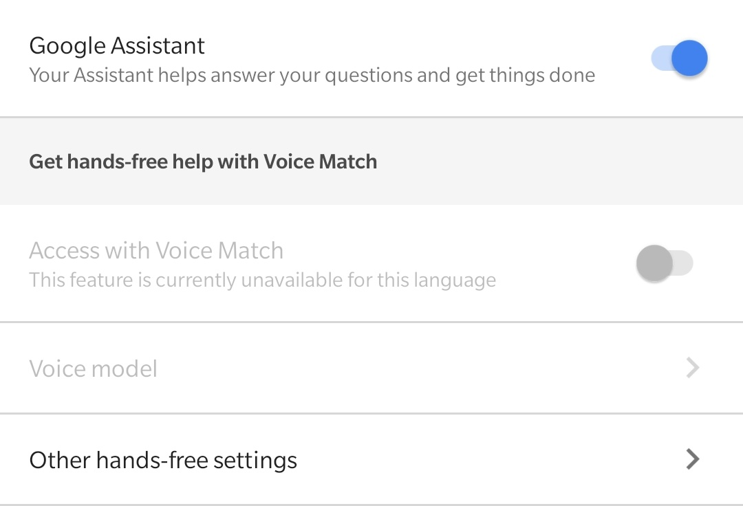 Voice Match not working - Google Assistant Help