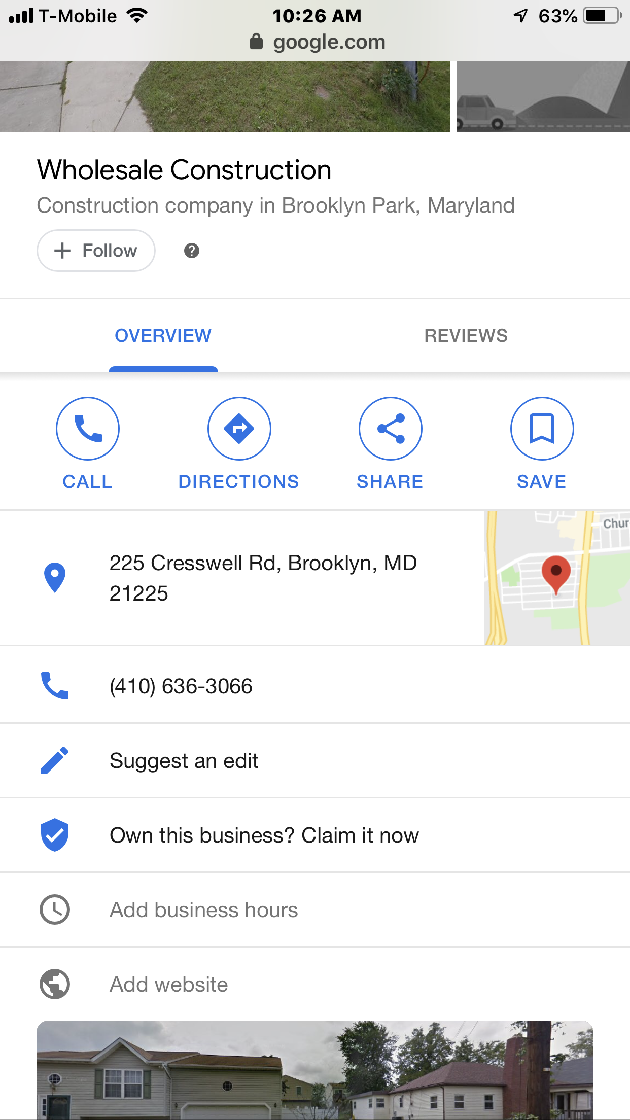 There is a business in google that has my address where I live listed. How  to update company address - Google Maps Community