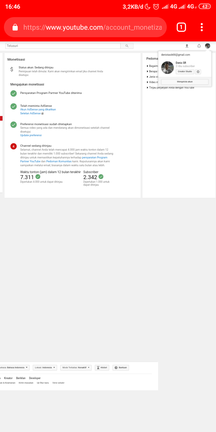 Request monetize for youtube channel - YouTube Help