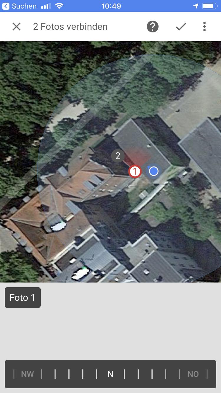 Im Streetview App Foto Verschieben Und Verbinden Werden Mein