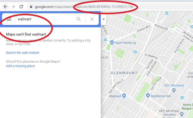 Search Doesn T Work Unless I Remove Coordinates From Url Google