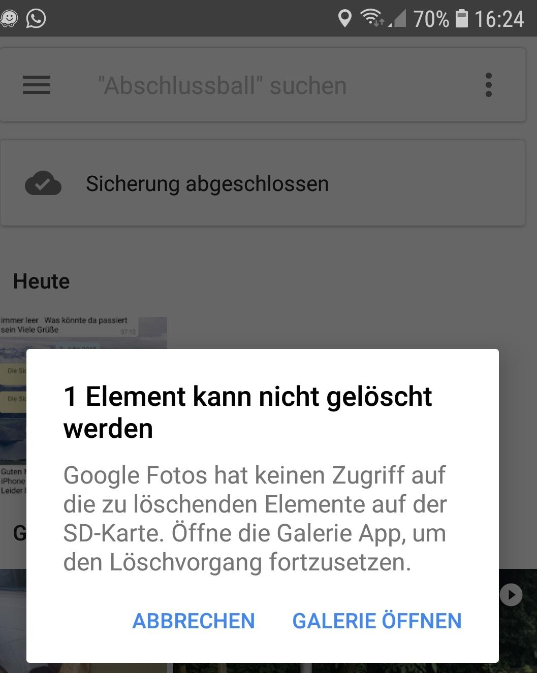 kein zugriff auf sd karte android Speicherplatz Freigeben nicht möglich, trotz vorhandener Rechte