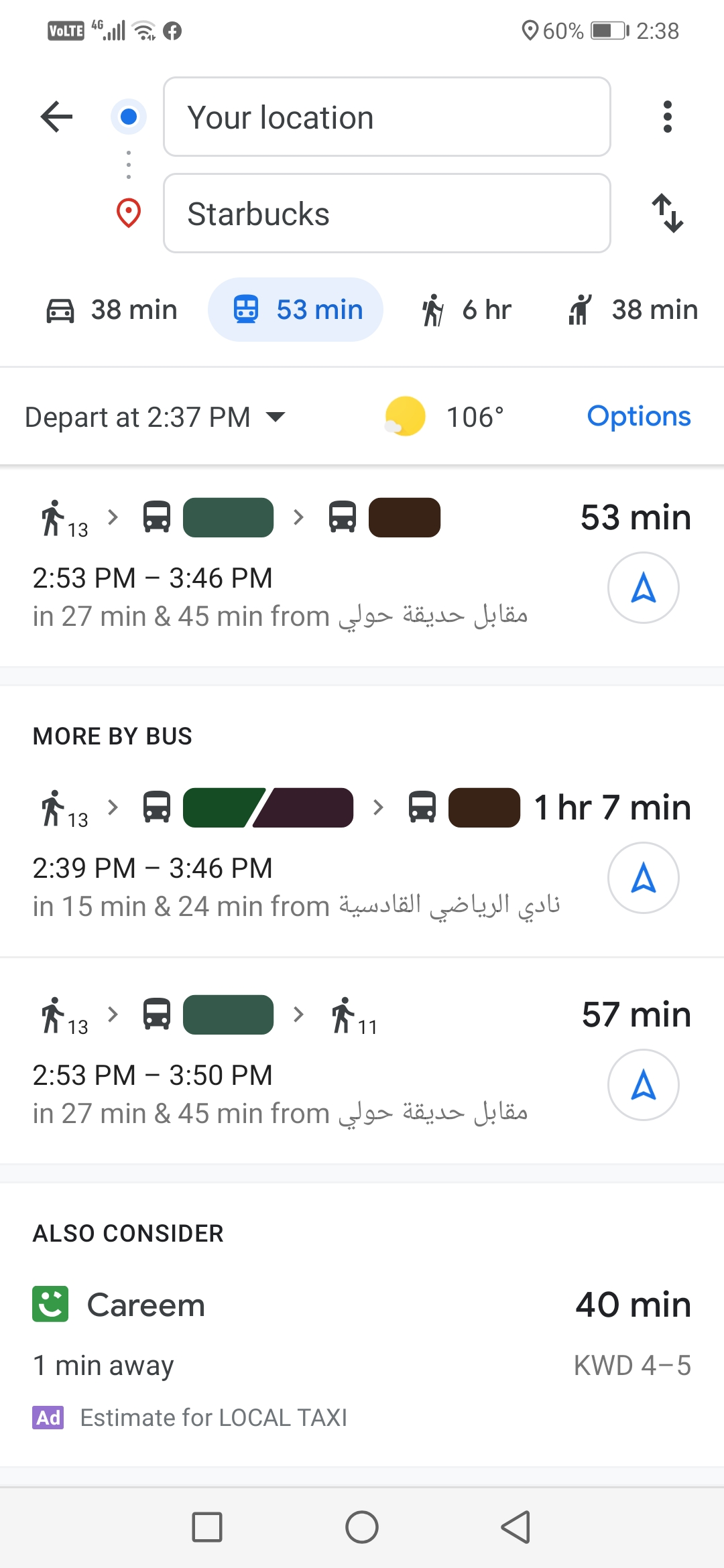 Why Is Bus Numbers Not Appearing When Showing The Route Google