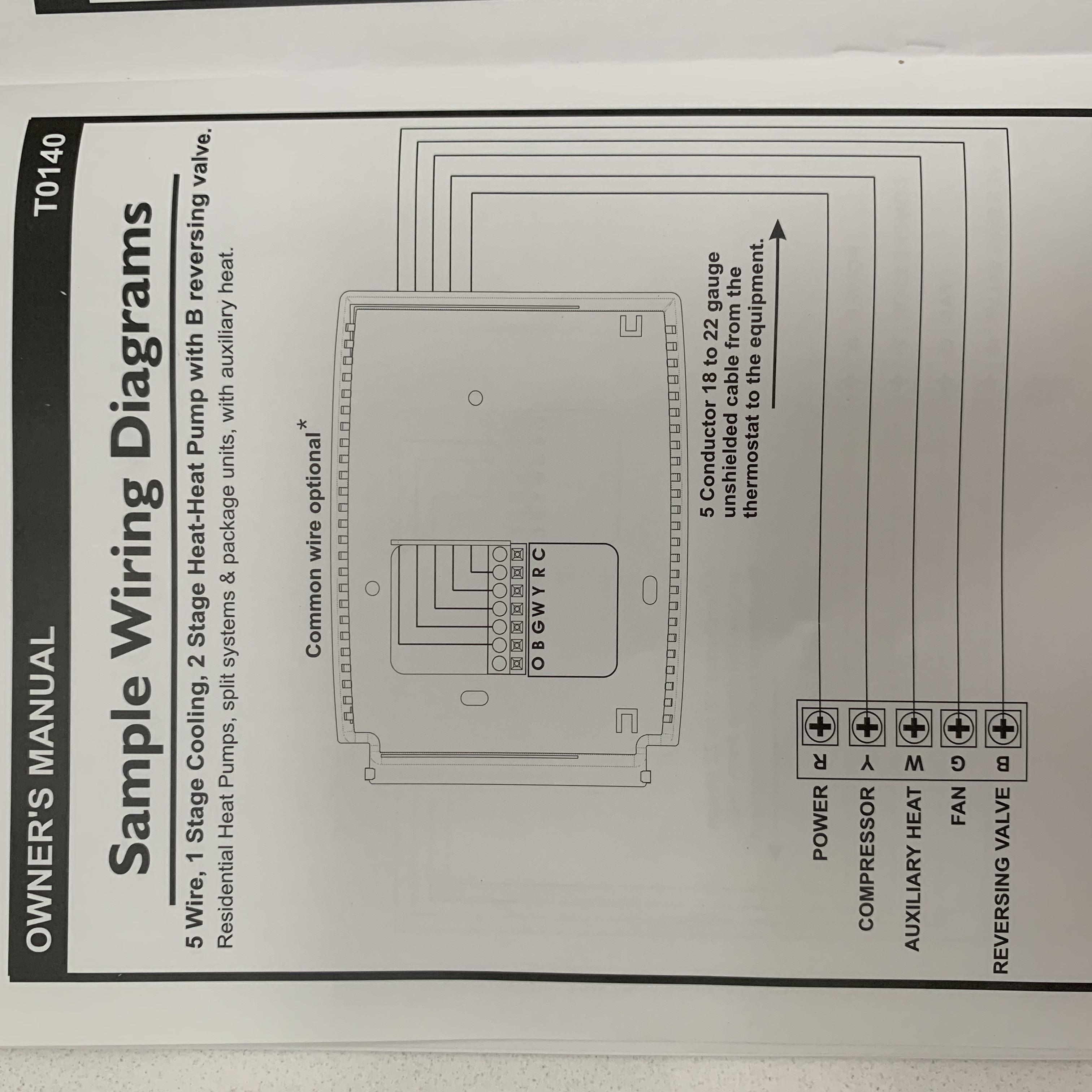 2 Stage Heat Pump Thermostat Wiring