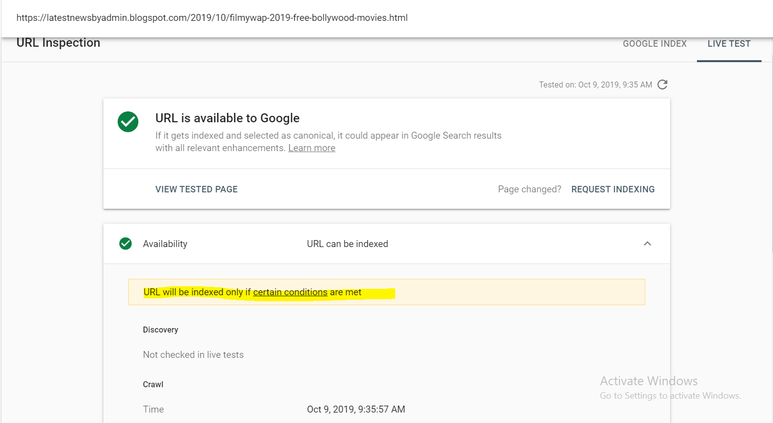 Page Is Not Indexing In Google But Showing Some Error In Live Test Search Console Community
