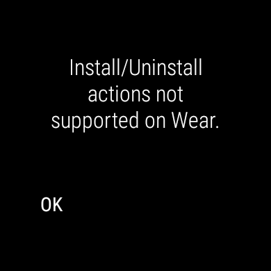 Install app on android wear programmatically - Wear OS by Google Help