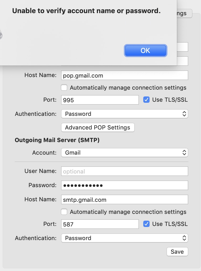 I Need A Pop Account For Gmail With Mac Mail Gmail Community