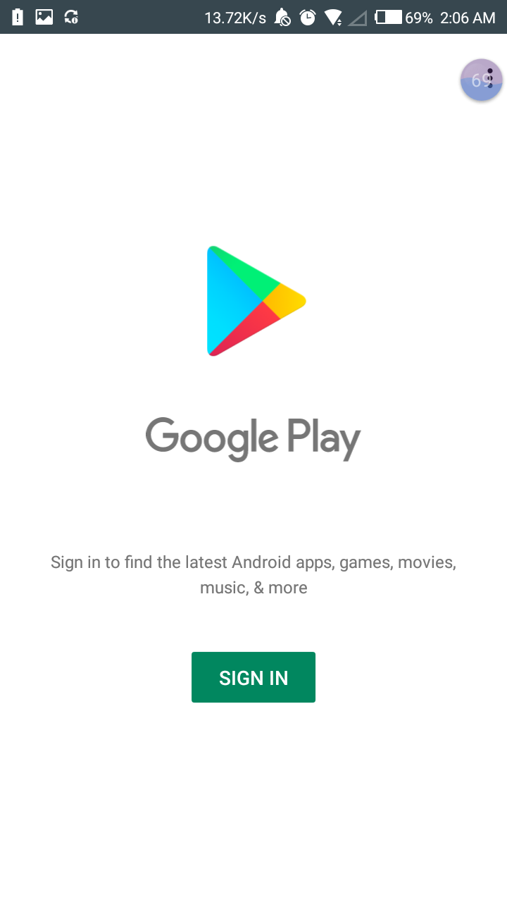 My Google Play Not Signing In