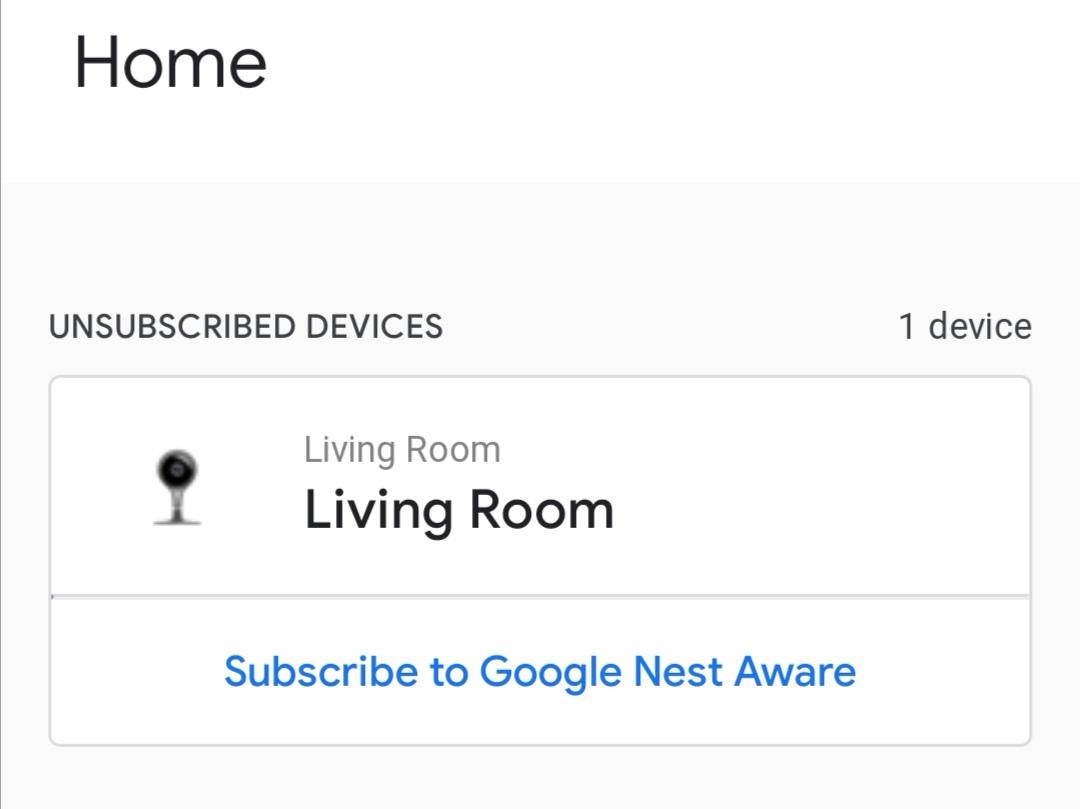 google nest aware subscription