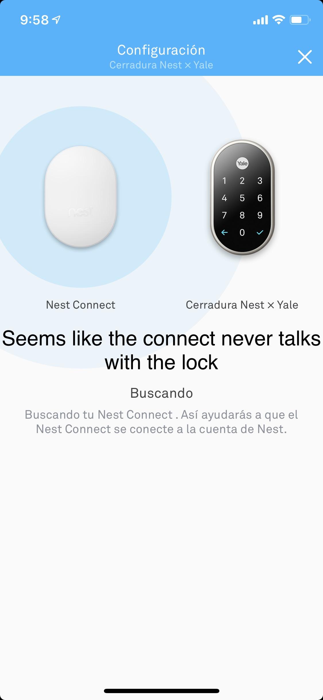 Problem Adding Next X Yale Lock Google Nest Community