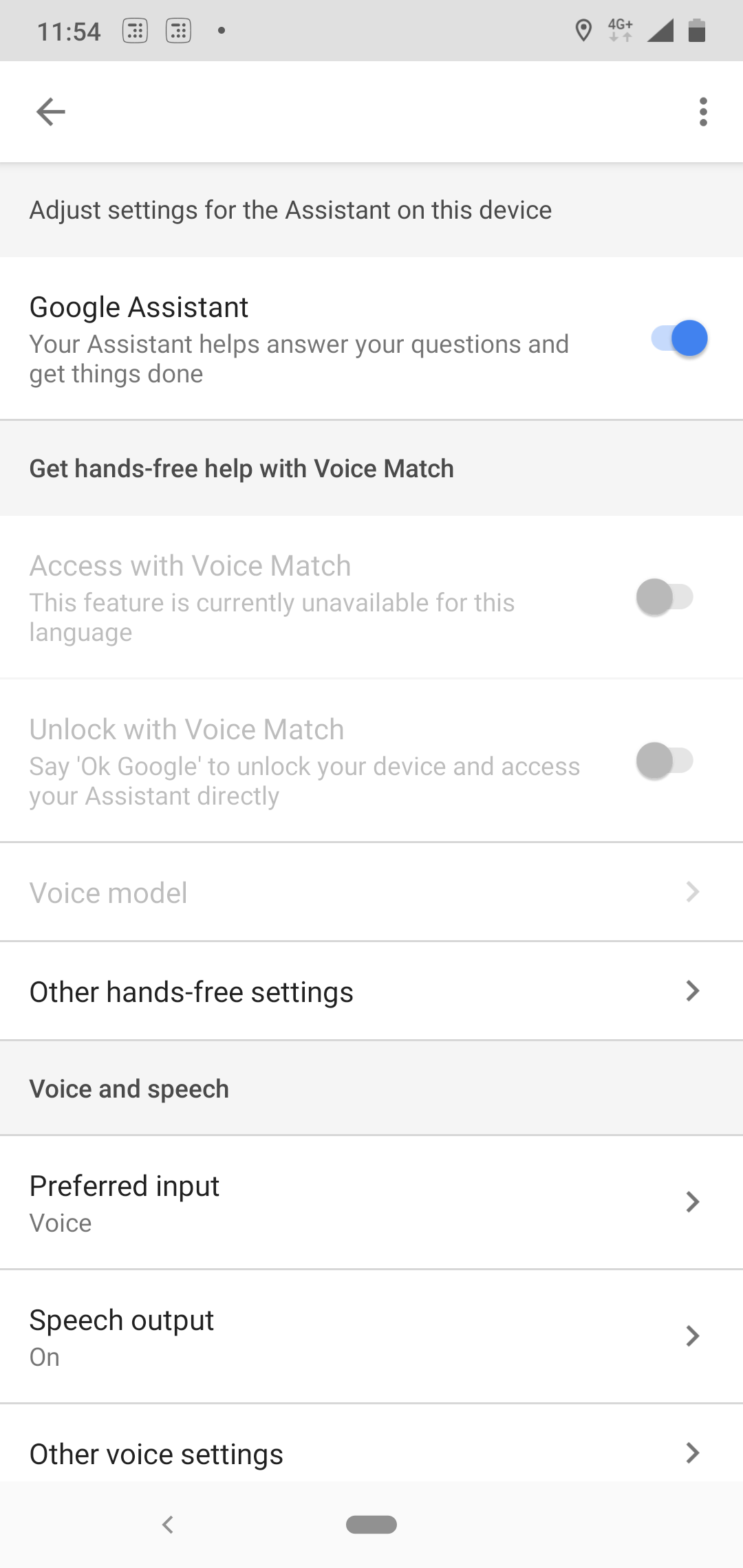 Google assistant voice recognition is not working and settings