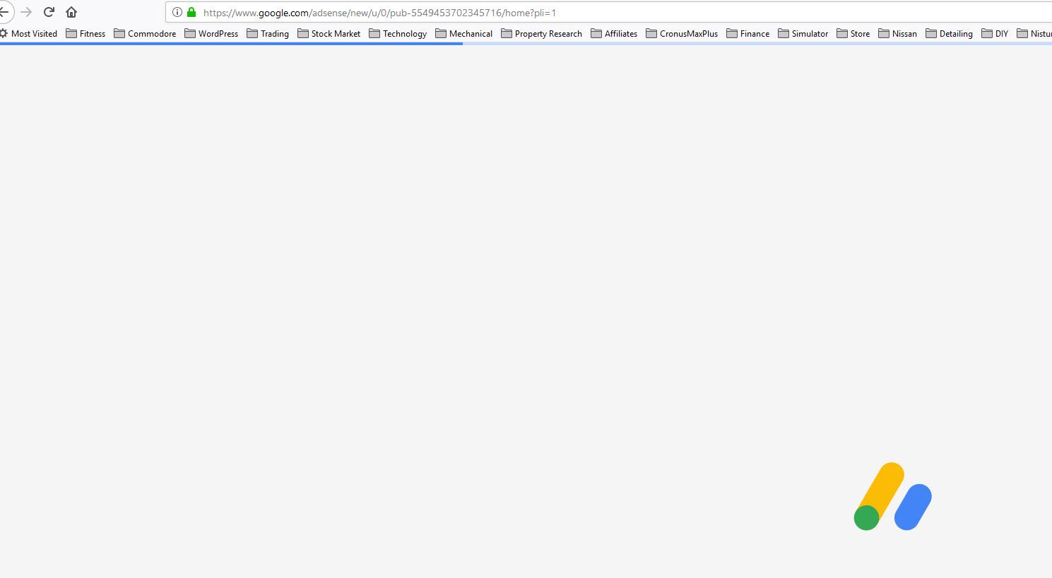 I can't login  Adsens's look's like it is stuck in a loop