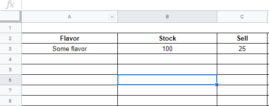 Suggestion For A Simple Inventory Control Sheet Docs Editors Community