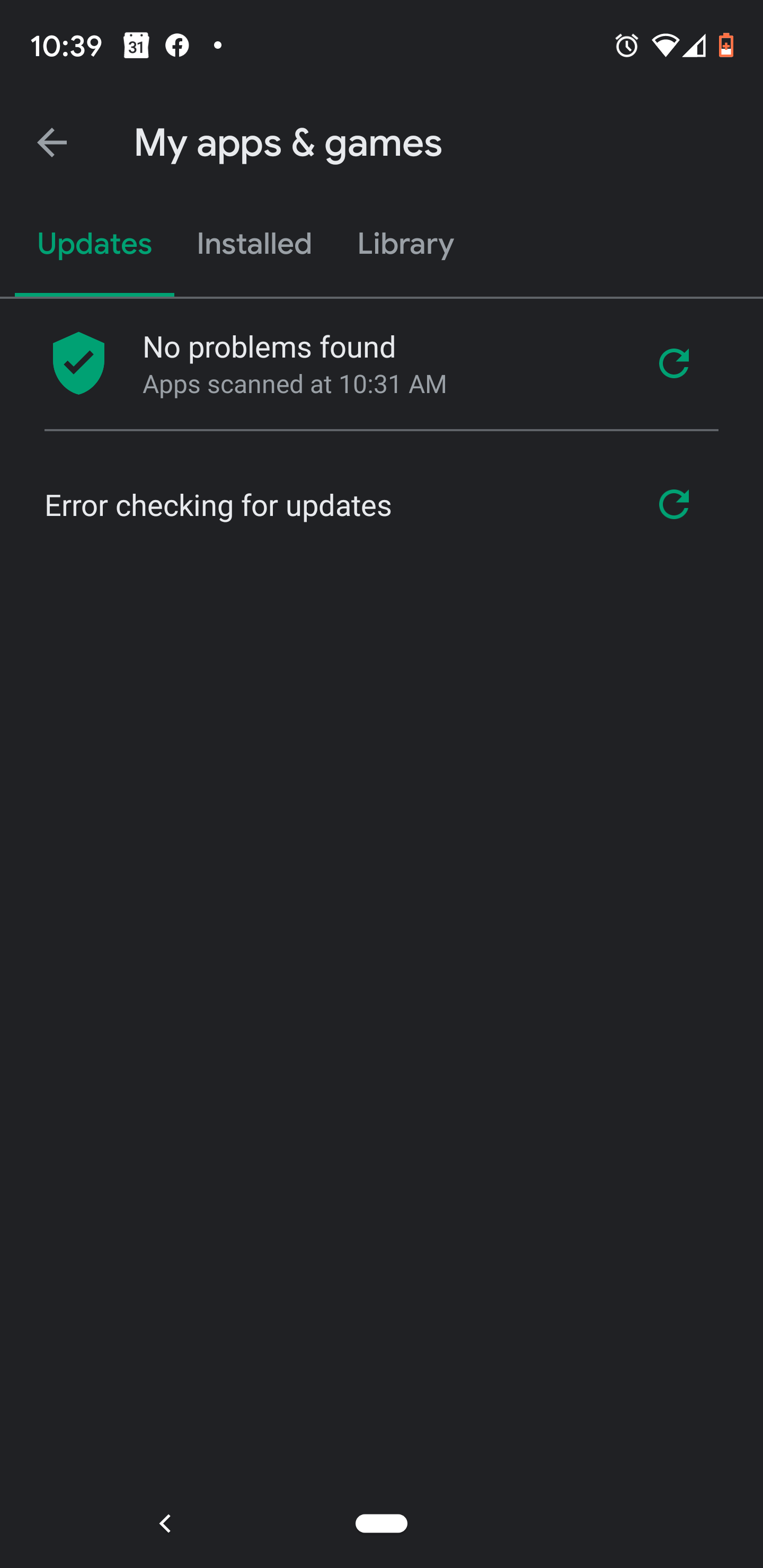 Google Play Store Says Error Checking For Updates So I Can T See Which Apps Have Updates Help Android Community