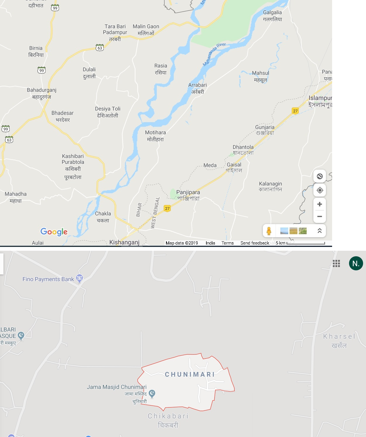 Hi My Village Name Chunimari Becomes Visible Only After Zooming