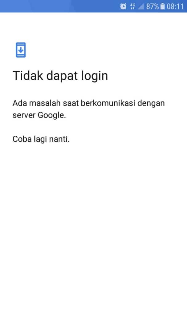 masalah pada saat login ke akun google