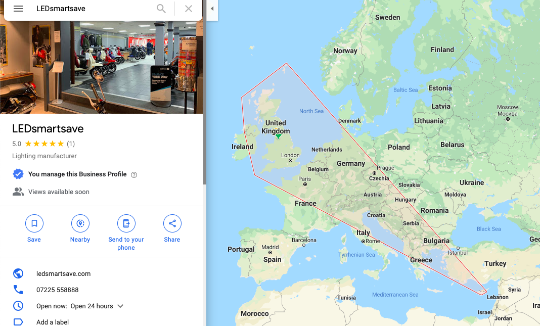 Google Maps Showing Multiple Eu Countries When I Have My Service