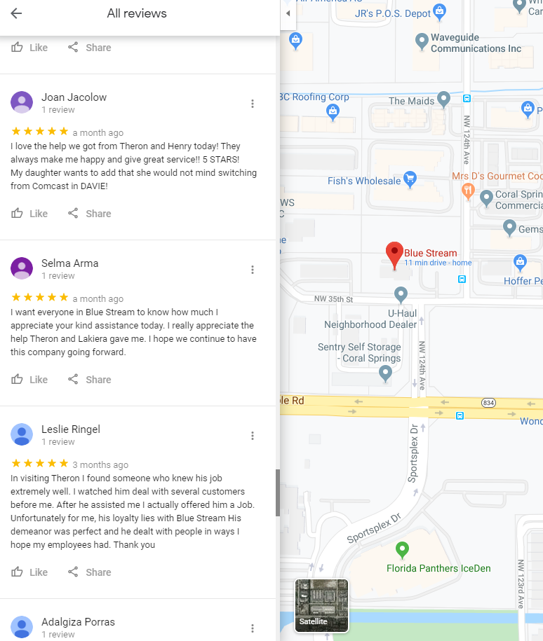 Blue Stream 1000s Of Fake 5 Star Review Google My Business Community