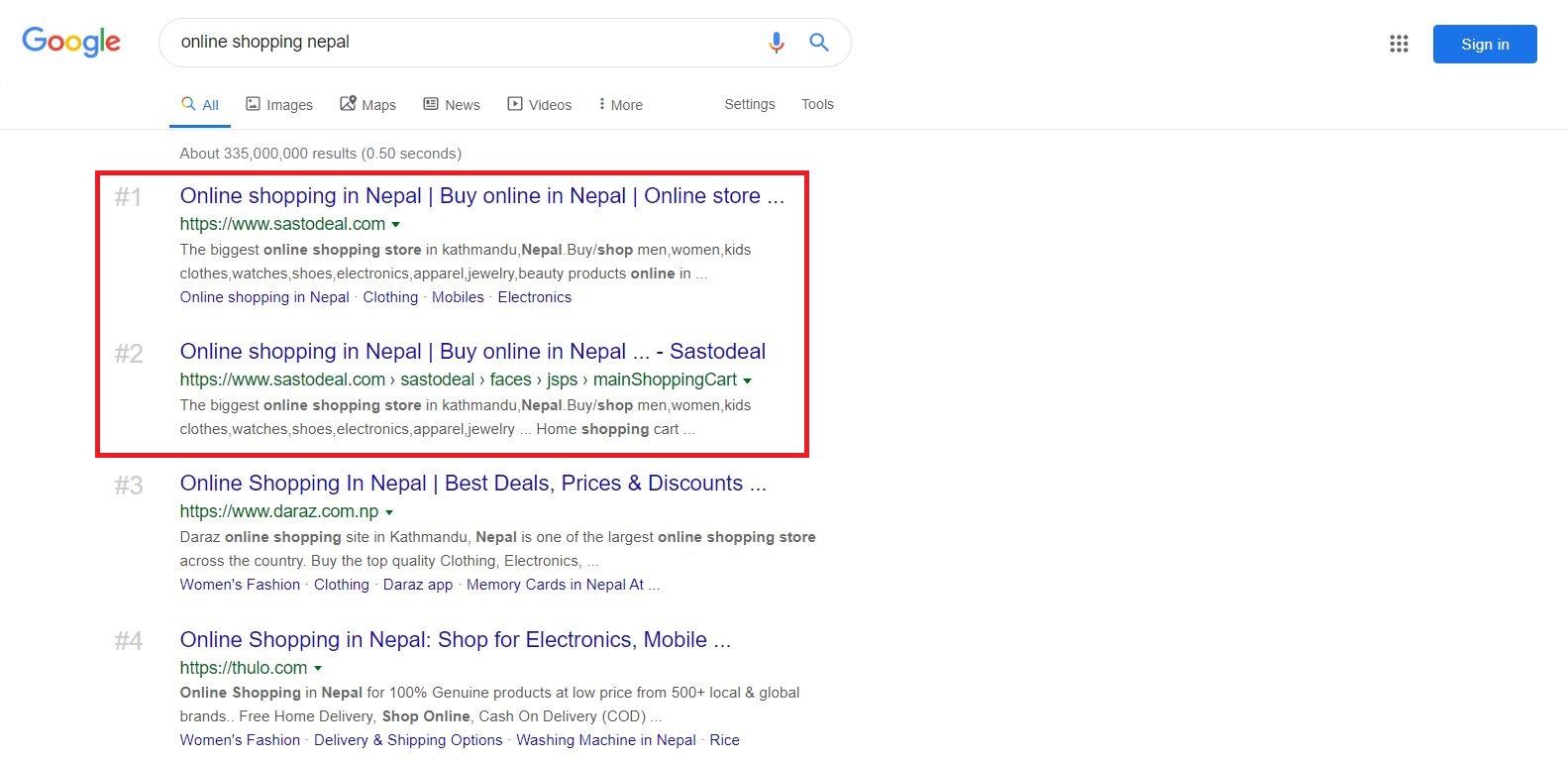 Search Result behavior Error Report - Google Search Community