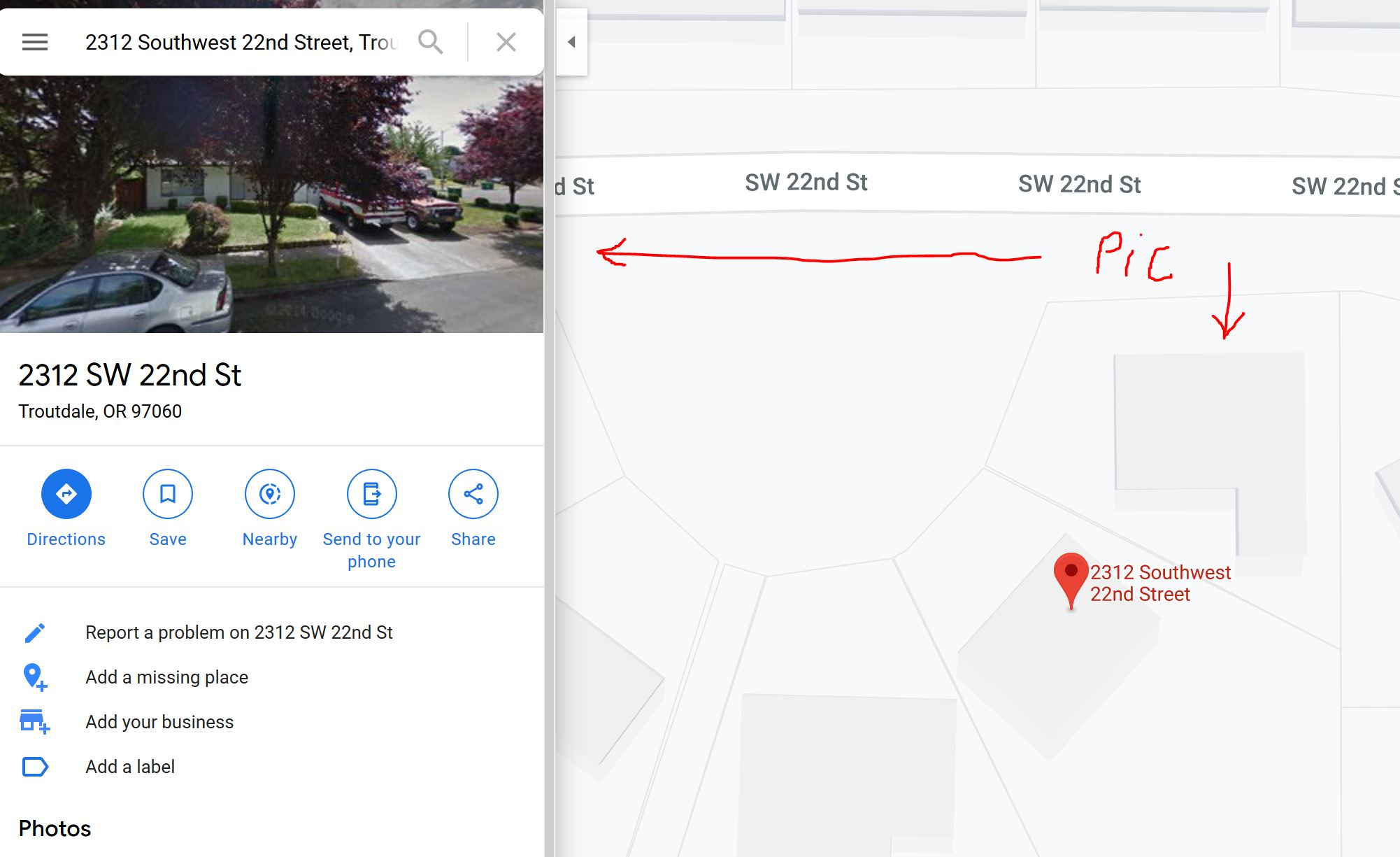 Incorrect Image Displayed When Searching For My House Using Pc