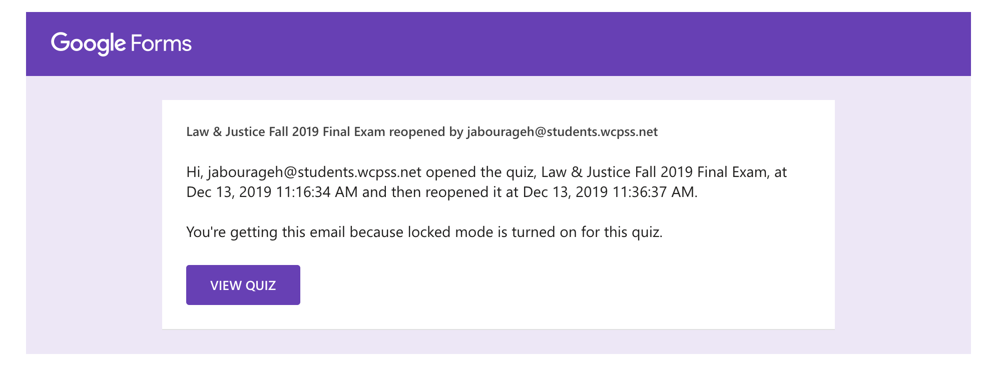 Locked Mode In Google Forms Error Respondent Did Not Complete This Assessment In Locked Mode Classroom Community