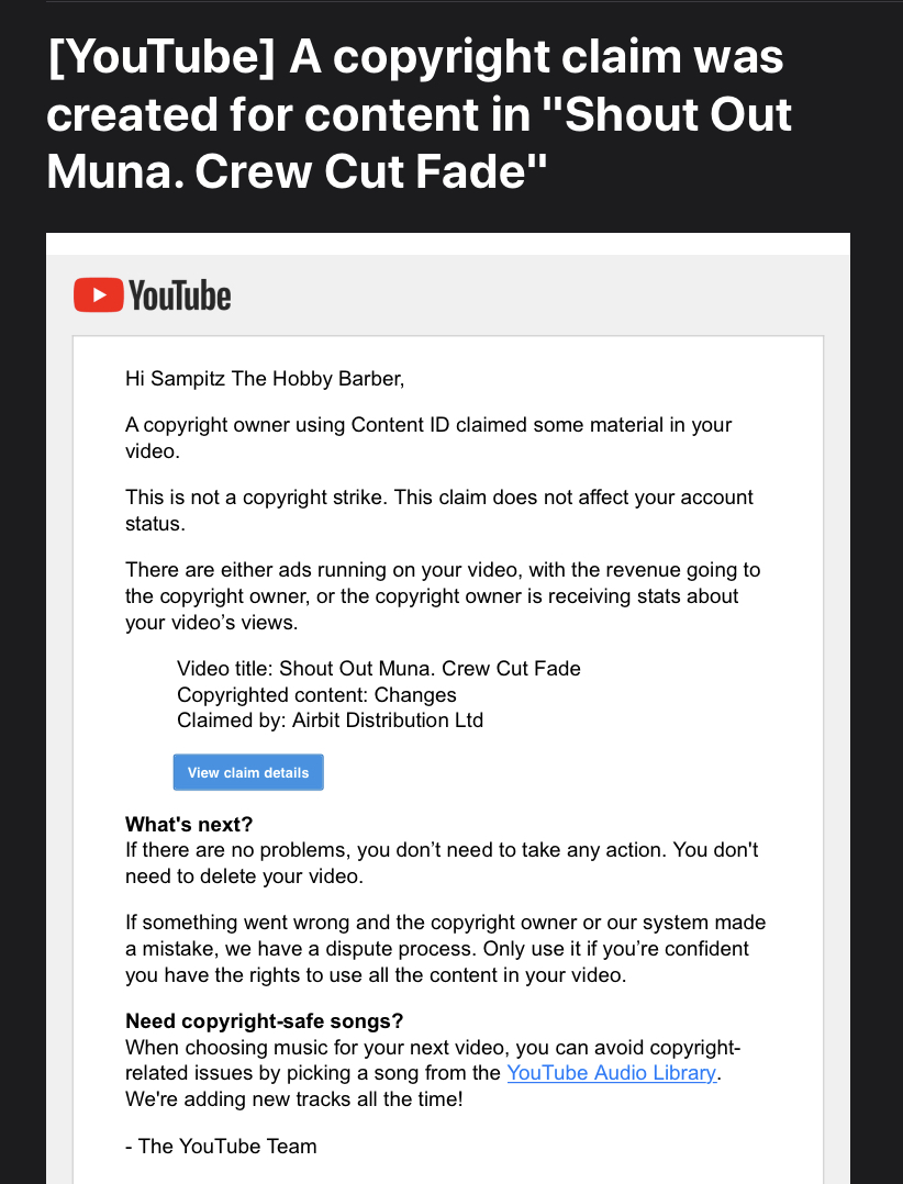 Cfm Youtube Channel Offer Copyright Free Music As It Stands For Its Name Cfm But I Get Copyright Youtube Community