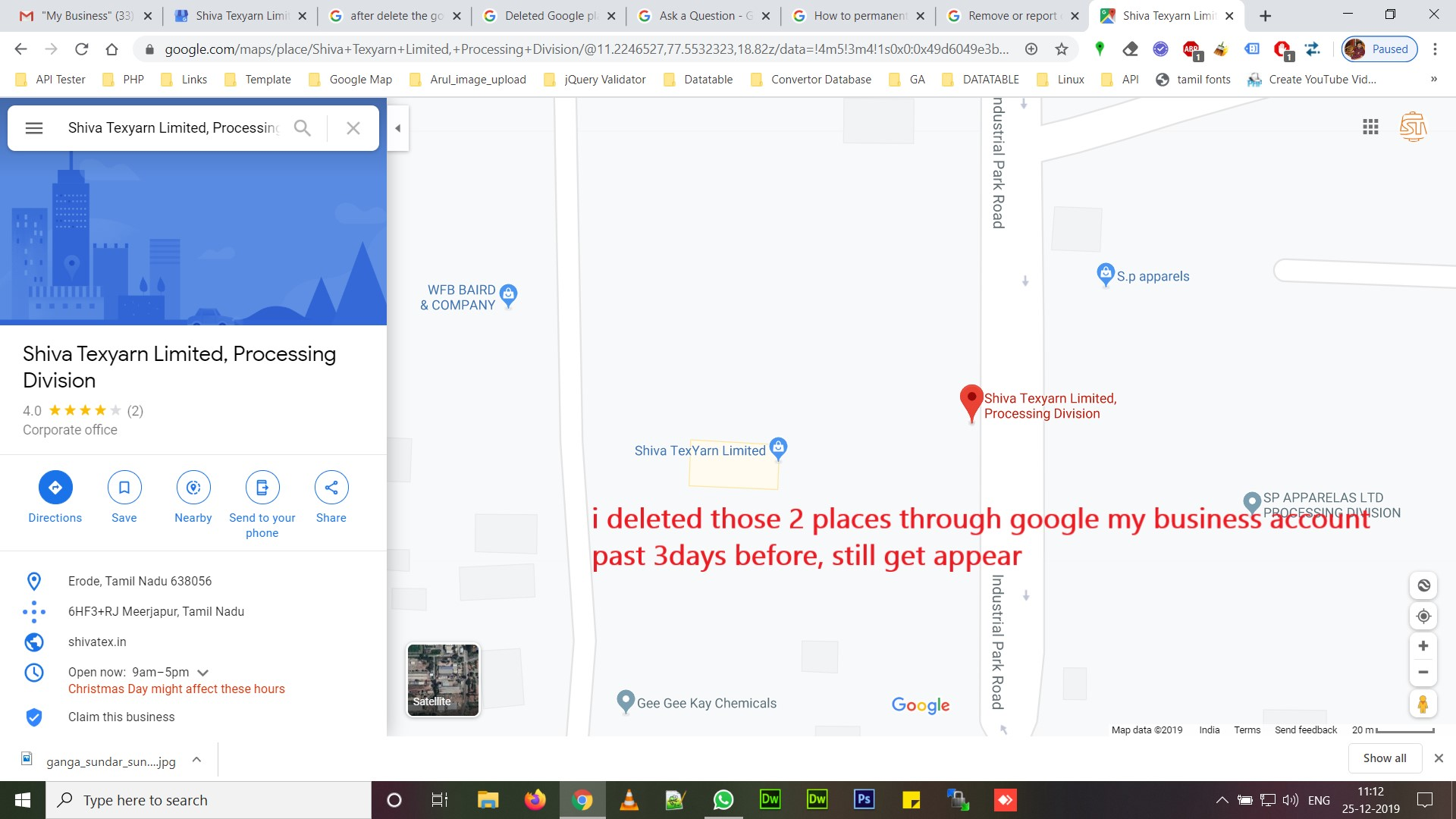 We Want To Delete Duplicate Address Location In Google Map