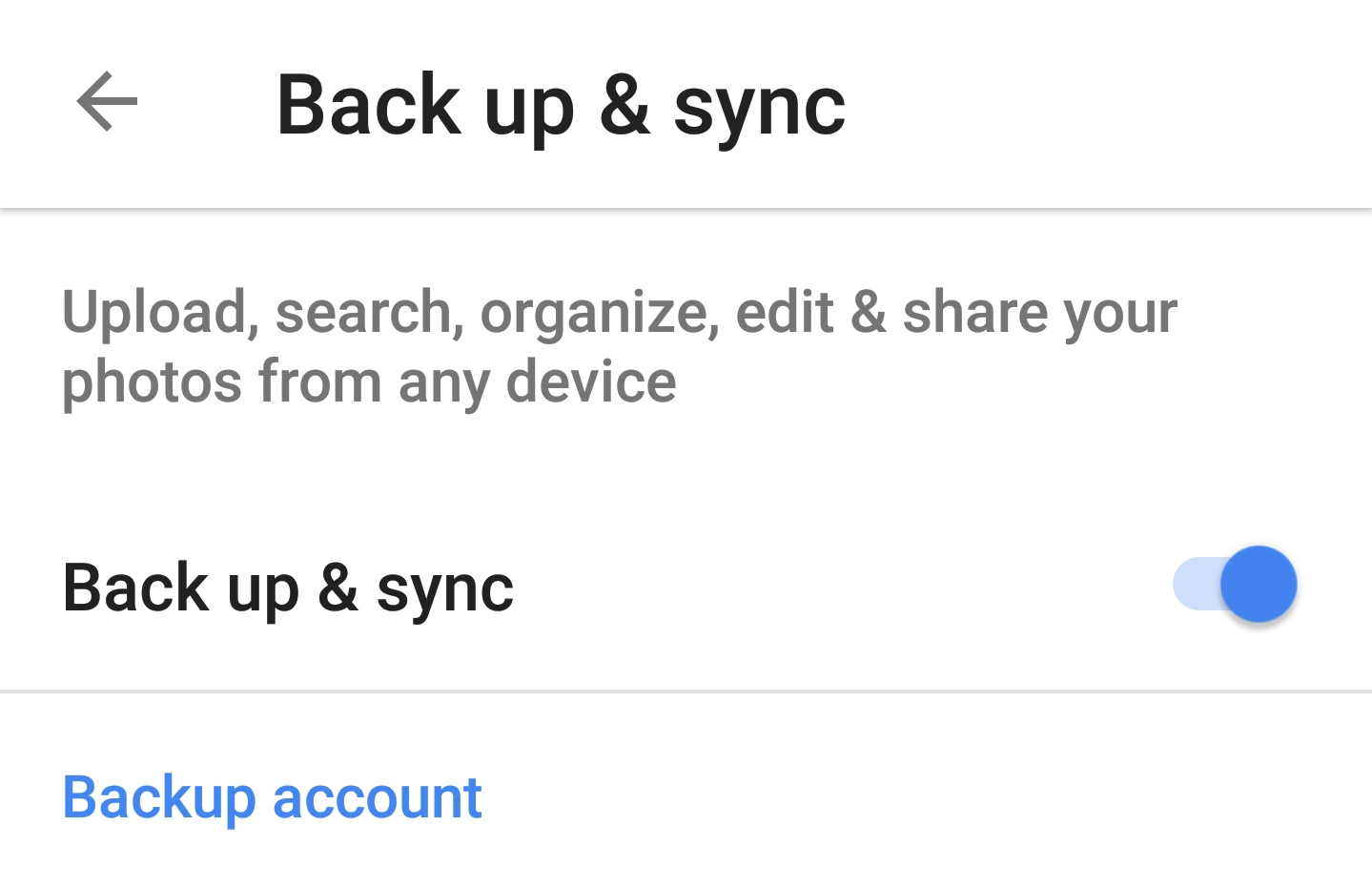 Camera folder' photos won't sync on android (GS8+)  Sync is