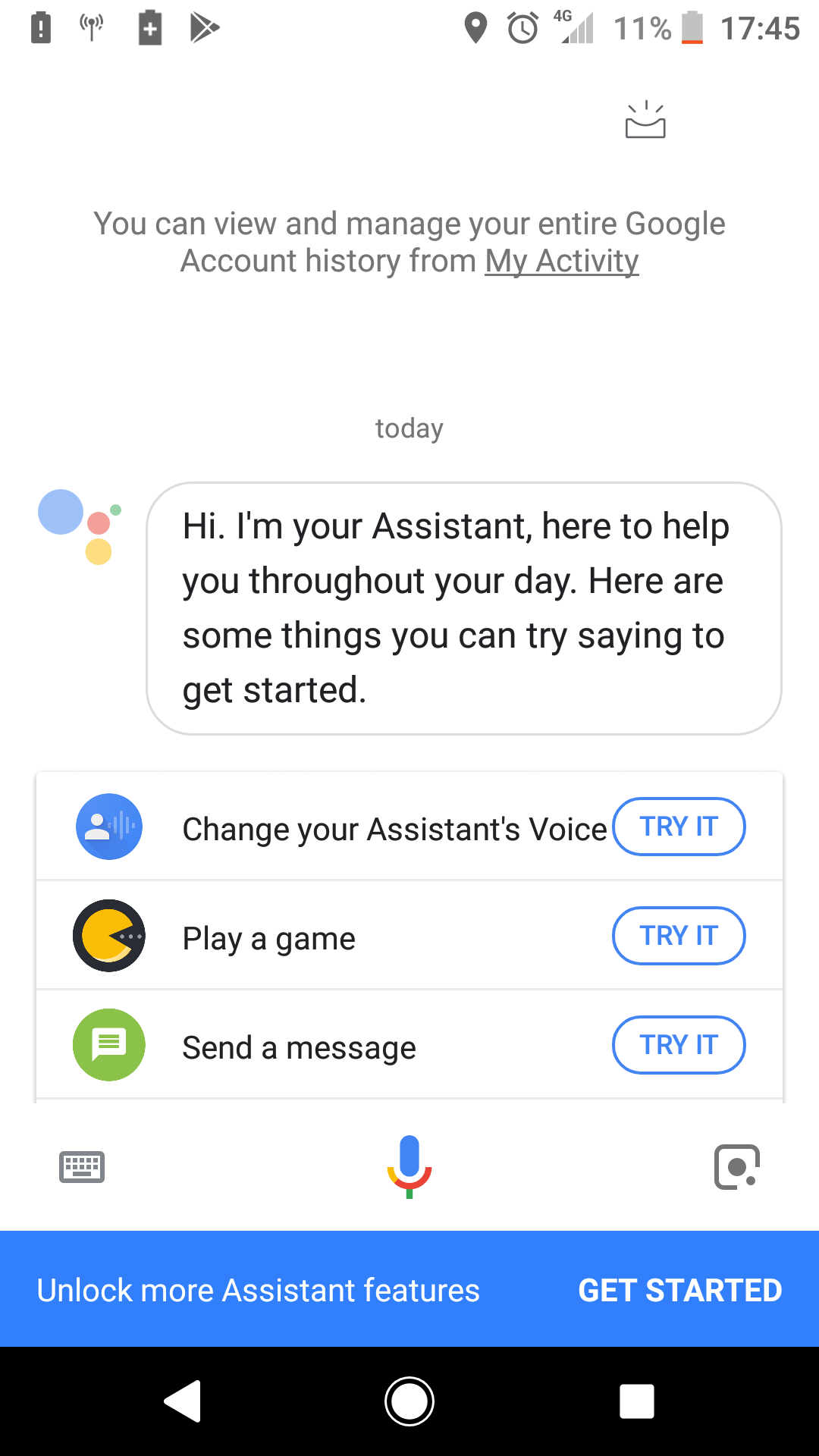 Hi, I just can't disable google assistant  There's no three