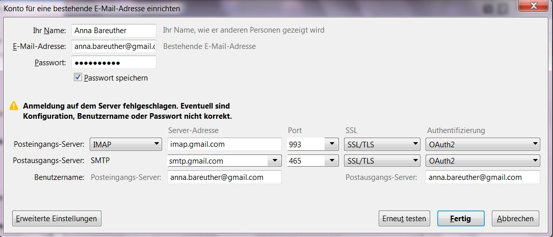 Emails in Thunderbird abrufen - Gmail Community