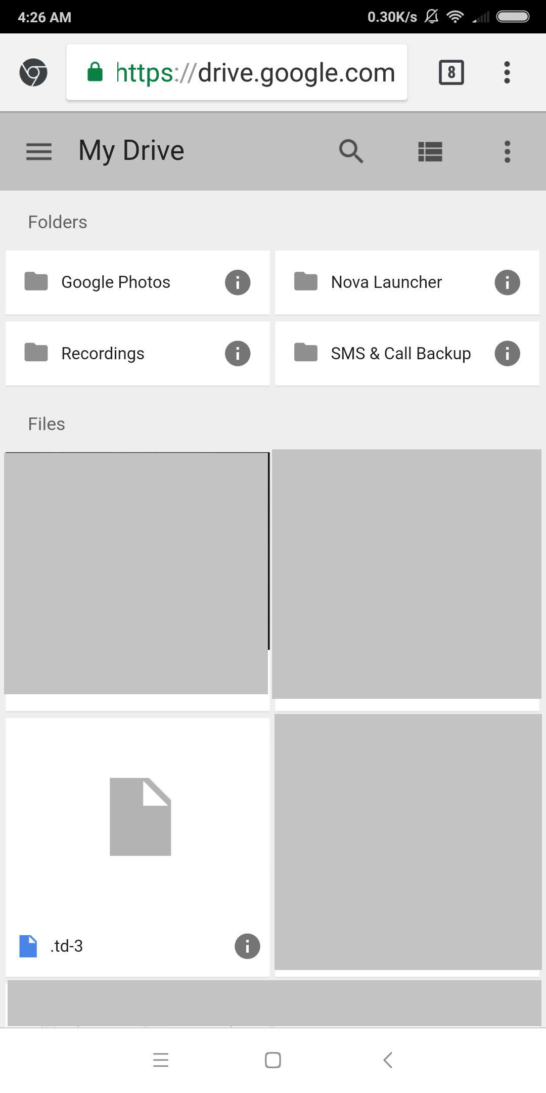 Photos missing after dissociating Google photo from Google Drive