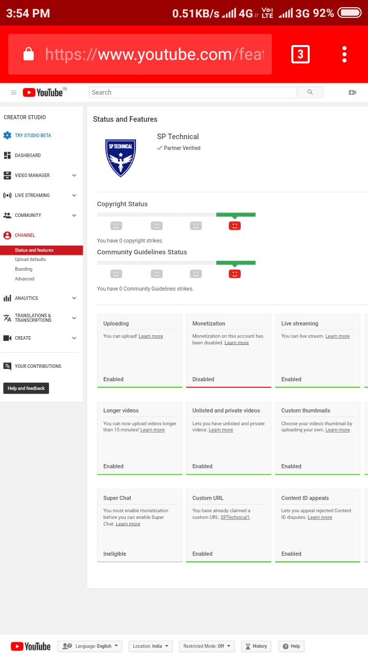Dear,Youtube team My channel monetization feature is