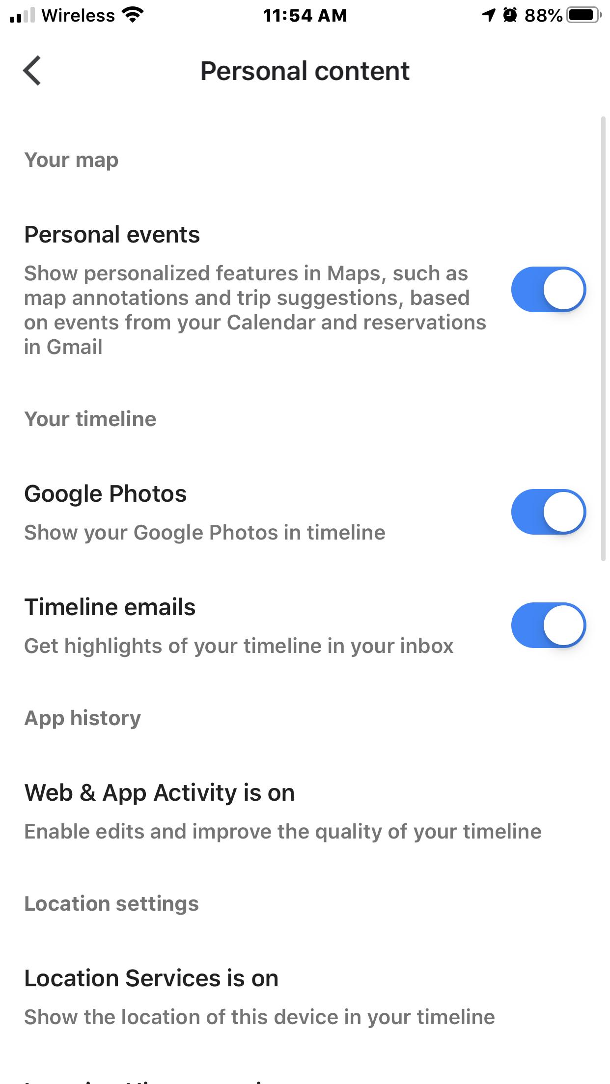 Timeline Not Working Using Iphone Google Maps Community