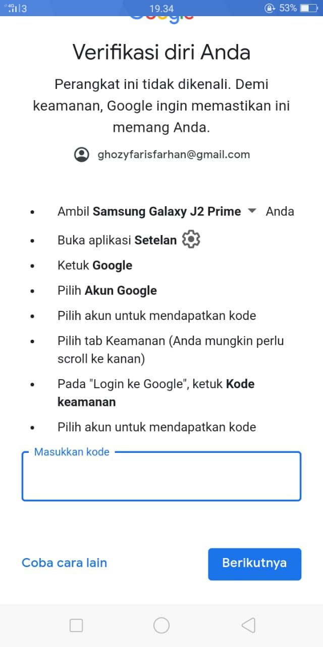 Akun Google Saya Tidak Dapat Login Karena Device Saya Sudah Hilang Komunitas Akun Google