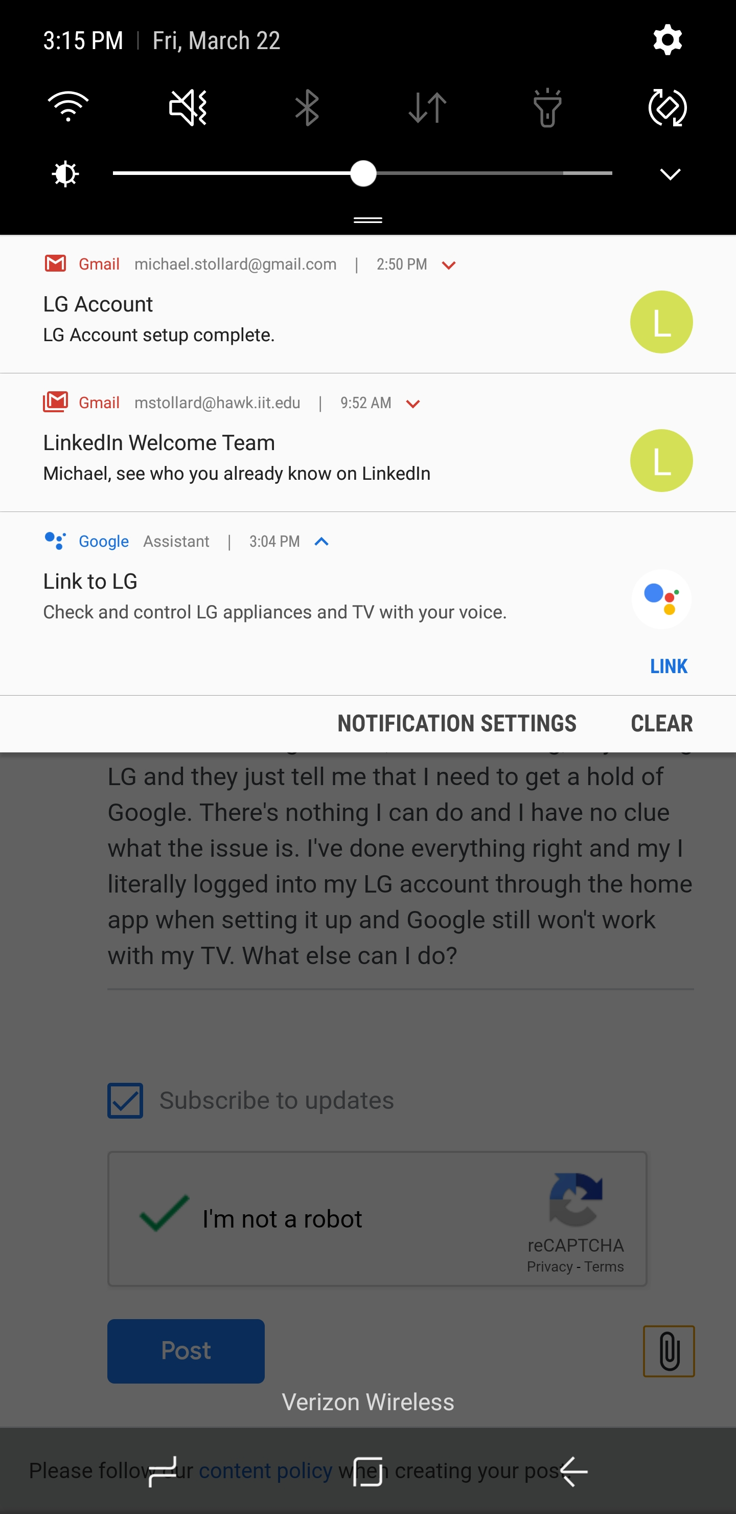 Can't link lg account to Google home - Google Home Help