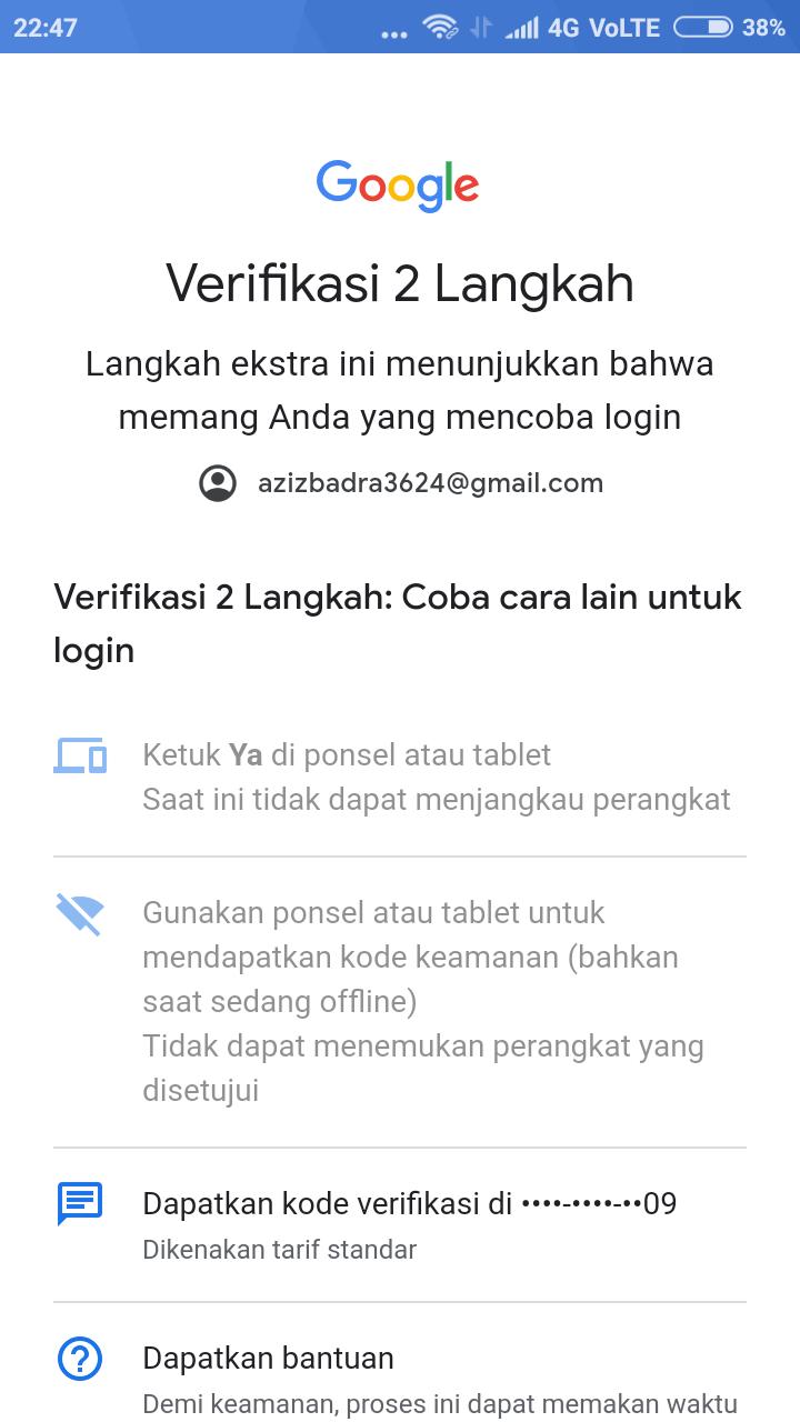 Bisakah Admin Disini Membantu Memulihkan Akun Saya Yang Tidak Bisa Login Karena Hp Saya Dicuri Komunitas Akun Google