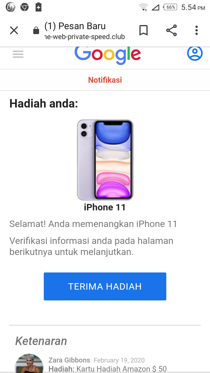 Halo Apakah Google Mengadakan Undian Smarthphone Tolong Di Balas