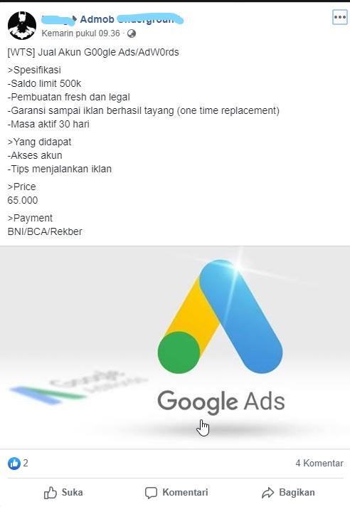 Ada Yang Menjual Saldo Google Ads Limit 500 Ribu Harga 65 Ribu Ribu Bagaimana Cara Kerja Nya Komunitas Google Ads