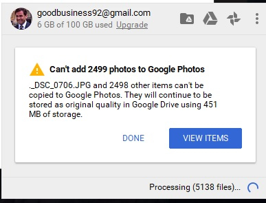 Issue Uploading All Photos From Desktop To Cloud Google Photos Community